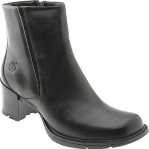 TIMBERLAND ALYSE 62317 BLACK LEATHER ANKLE BOOT